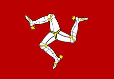 Flag of Isle of Man Stock Images