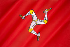 Flag of the Isle of Man - Manx Flag. Regional flag of the Isle of Man - United Kingdom. It has been the official flag of Mann since 1931 and is based on the Manx Royalty Free Stock Image