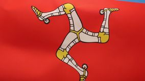 Flag of the Isle of Man - United Kingdom stock video