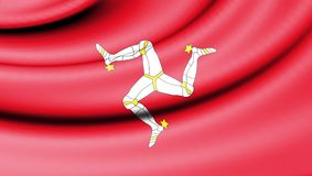 Flag of Isle of Mann. Stock Photography