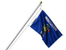 flag isolerade wisconsin Royaltyfri Fotografi