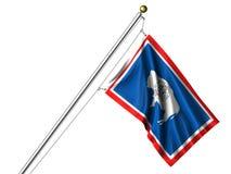 flag isolerade wyoming Royaltyfri Fotografi