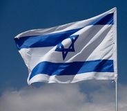 Flag of Israel Royalty Free Stock Photography