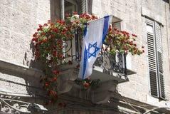 flag israel Arkivfoto