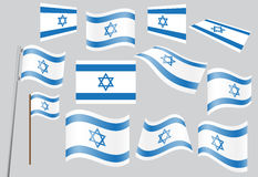 Flag of Israel. Set of flags of Israel vector illustration Royalty Free Stock Photos
