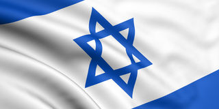 Flag Of Israel. 3d rendered flag of israel