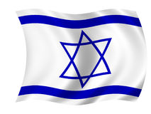 Flag of Israel royalty free illustration