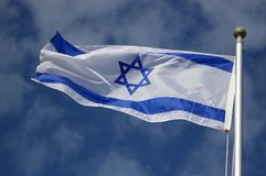 Flag of israel Royalty Free Stock Photo