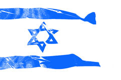 Flag of Israel Stock Photo