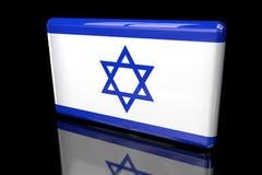 The flag of Israel 3D volumetric royalty free illustration