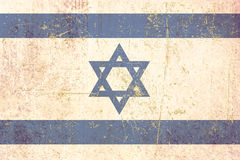 Flag of israel grunge Stock Image