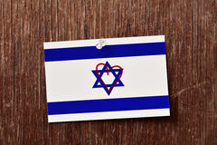 Flag of israel with a heart drawn in it Stock Images