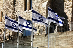 The flag of Israel. Jerusalem Royalty Free Stock Image