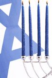 Flag of Israel and Menorah Stock Images