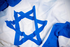 Flag of Israel. Flag of the nation of Israel with the star of David Royalty Free Stock Images