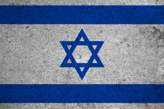 Flag. Israel flag on an old grunge background Royalty Free Stock Photos