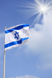 Flag of Israel. Over blue sky Royalty Free Stock Images