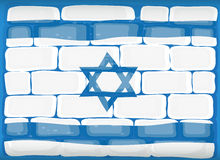 Flag of Israel painted on the wall Royalty Free Stock Images