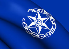Flag of Israel Police Royalty Free Stock Image