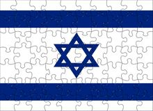 Flag of  Israel puzzle Stock Photo