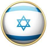 Flag of Israel on round badge Stock Photo