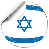 Flag of Israel in round shape Royalty Free Stock Images