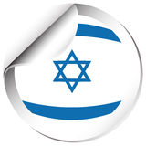 Flag of Israel in round shape Stock Photography