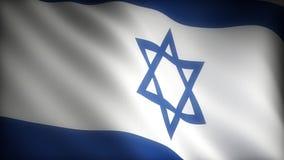 Flag of Israel stock footage