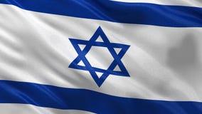 Flag of Israel seamless loop stock footage