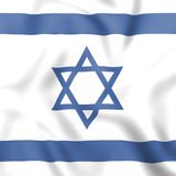 Flag Israel Shows Middle East And Countries Royalty Free Stock Photography