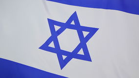 Flag of Israel in slow motion stock video footage