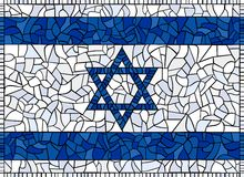 Flag of Israel Stained Glass Stock Image