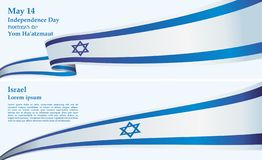 Flag of Israel, the State of Israel, Bright, colorful vector illustration. Flag of Israel, the State of Israel, a template for congratulations, design awards, an stock illustration