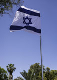 Flag of Israel on a summer day Royalty Free Stock Photos