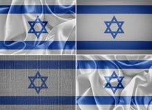 flag israelen Arkivfoton
