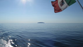 The Flag of the Italian Navy Stock Photography