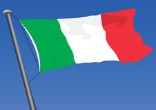 Flag Of Italy. Vector illustration of the flag of italy Stock Photo