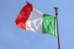 Flag of Italy. At Vittoriano, Rome. National symbol Royalty Free Stock Photos