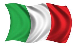 Flag of Italy. Waiving in the wind - very high res - 8000 x 4807 px Royalty Free Stock Photo
