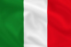 Flag of Italy. Italian waving flag (can be background Stock Photography