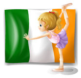 The flag of Italy at the back of a girl Royalty Free Stock Images