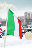 Flag of Italy in city Royalty Free Stock Image
