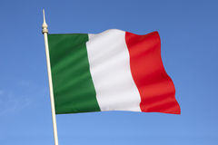 Flag of Italy - Europe. The national flag of Italy -  Its current form has been in use since 19 June 1946 and was formally adopted on 1 January 1948 Stock Photos