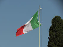 Flag of Italy floating Royalty Free Stock Image