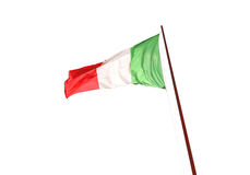 Flag of Italy isolated on white background Stock Photo