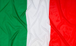 Italian Flag of Italy Stock Images