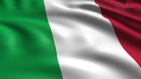 Flag of Italy (loop) stock video