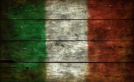 Flag of italy. On old wooden planks Royalty Free Stock Photography