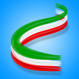 Flag Italy Represents Patriotic Nationality And Patriot Stock Photography
