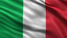 Flag of Italy seamless loop Stock Photos